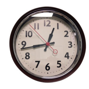 Retro Brown Wall Clock
