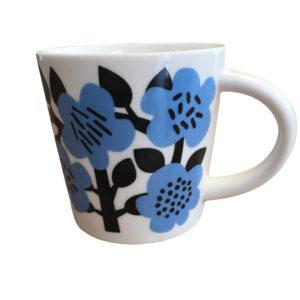 astrid flowers porcelain mug