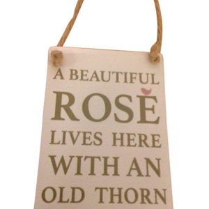 Rose Lives with Old Thorn
