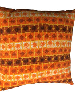 orange vintage retro campervan cushion