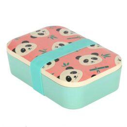 Panda Pink Bamboo Lunchbox
