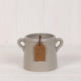 Mini Grey Ceramic Planter
