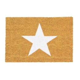 White Star Coir Door Mat