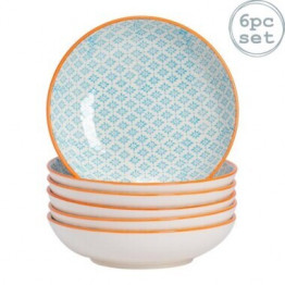 Blue and Orange Pasta Bowls