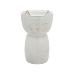 Speckled Cat Ceramic Vase