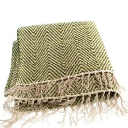Cotton Rug Throw Green