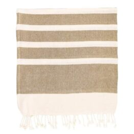 Beige Stripe Hammam Towel