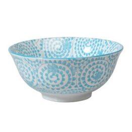 Blue Swirls Japanese Bowl