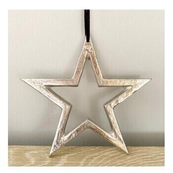 Silver Hanging Metal Star
