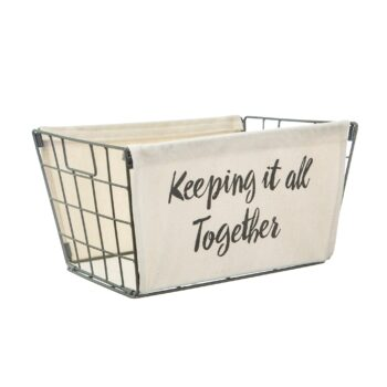 Keeping it all together wire storage basket