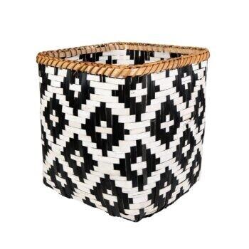 Scandi Boho Geo Bamboo Basket